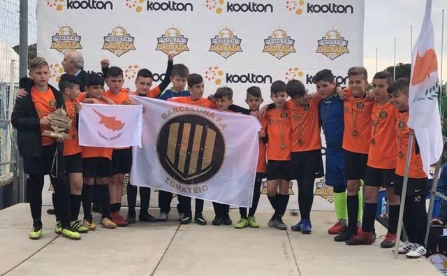 Επιτυχία σε Διεθνή Επίπεδο για την Barcelona F.A. που τιμά ιδιαίτερα τη μικρή μας Κύπρο!