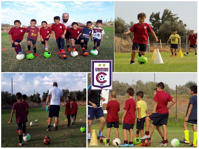 Οι μικροί αστέρες της Champions The Soccer Academy μιλούν στην κάμερα του Cyprus Academies (video)